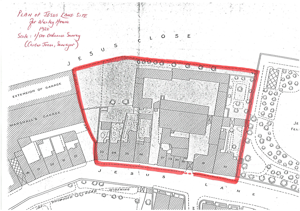 Plan of the site 1920.png