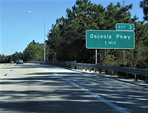 Osceola Parkway Exit 3 sign