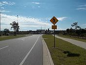 Road and sidewalk