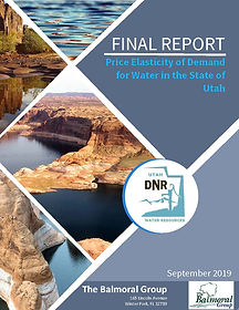 Price Elasticity of Demand for Water in the State of Utah - Final Report Cover