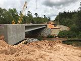 Bratt Road bridge construction