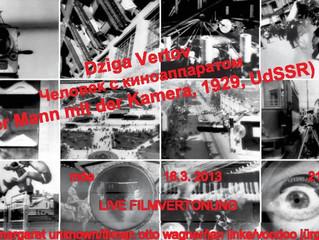 "DZIGA VERTOV ""MAN WITH A MOVIE CAMERA"" - LIVE SCORING (2013)"