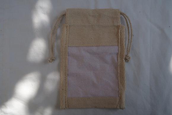 Pochette de Coton avec Fenêtre