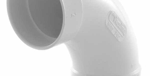 Raccordement ff coudé 90°en pvc 50mm blanc 765510w pour centralisation drainvac