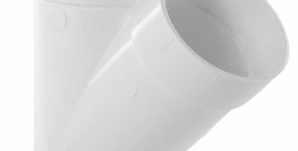 PVC EMBRAMCHEMENT Y 45° 50MM BLANC | ASPIRATION DRAINVAC YP0101V