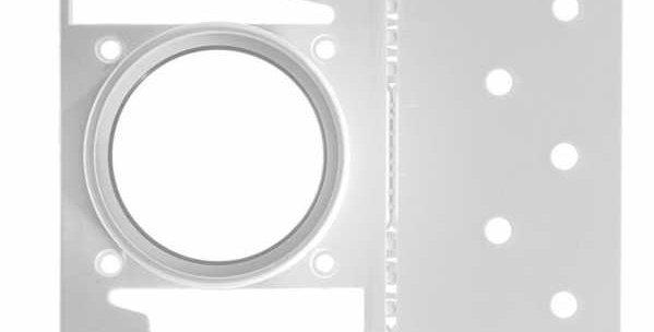 Plaque de montage PVC utilitaire ASPIRATION centralisée drainvac PL-1101