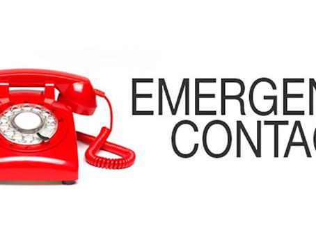 Emergency Contact Updates!