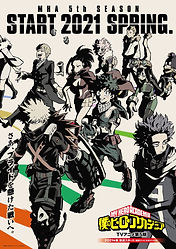 """""""My Hero Academia Season 5"""" TV anime series premieres Spring 2021, new key visual and 1st PV have been released"""