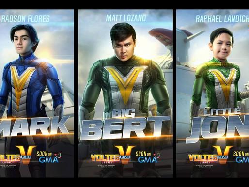 Philippine live-action adaptation 'Voltes V: Legacy' reveals Mark, Big Bert and Little Jon actors