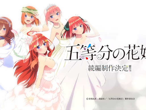 'The Quintessential Quintuplets' Season 3 TV anime has been announced
