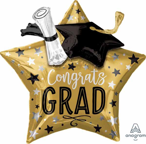 "28"" Grad Star Cap & Diploma"