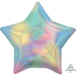 "18"" Iridescent Pastel Rainbow Star"