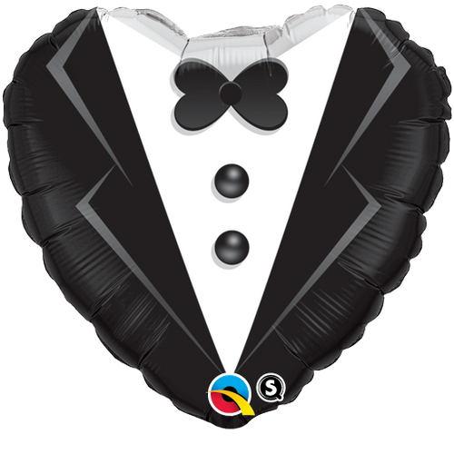 "18"" Heart Tuxedo"