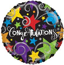 "18"" Congratulations Black"