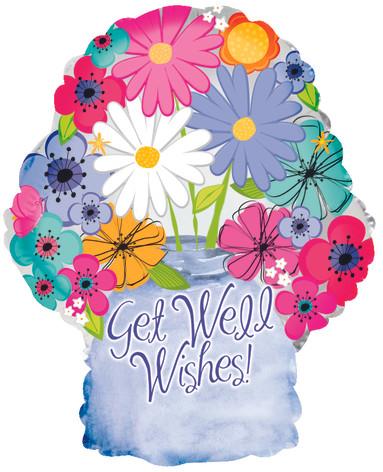 """18"""" Get Well Floral Jar"""