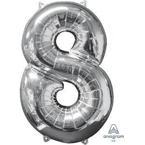 """34"""" Silver 8"""