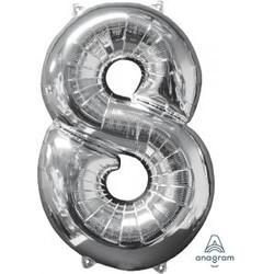 """36"""" Silver 8"""