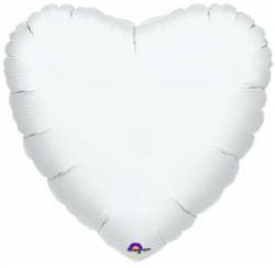 "18"" White Heart"