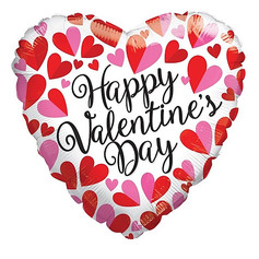 "18"" Happy Valentines Day Hearts"