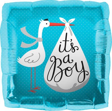 "18"" It's A Boy Stork"