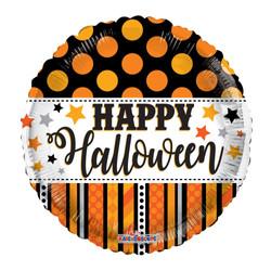 "18"" Halloween Dots & Stripes"
