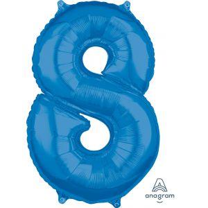 """34"""" Blue 8"""
