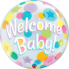 """22"""" Bubble - Welcome Baby"""