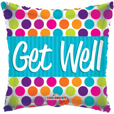 """18"""" Get Well Square Dots"""