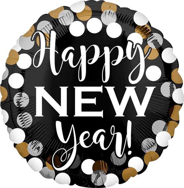 """18"""" Happy New Year Dots"""