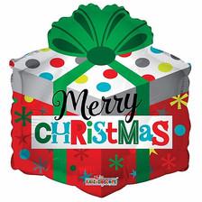 "18"" Merry Christmas Gift Box"