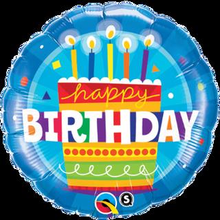 "18"" Blue Birthday Cake"