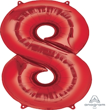 """34"""" Red 8"""