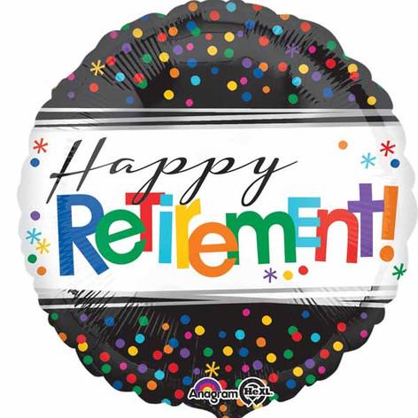 "18"" Happy Retirement Dots"