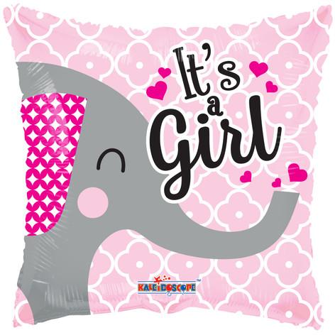 "18"" It's A Girl Elephant"