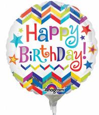 "9"" Happy Birthday Chevron"