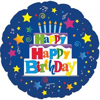 """18"""" Happy Happy Birthday"""
