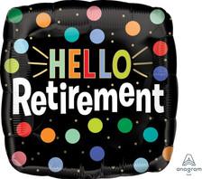 "18"" Hello Retirement Dots"