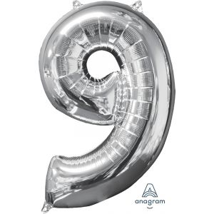 """34"""" Silver 9"""