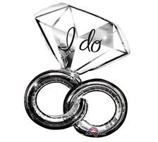 """30"""" Wedding Rings """"I do"""""""