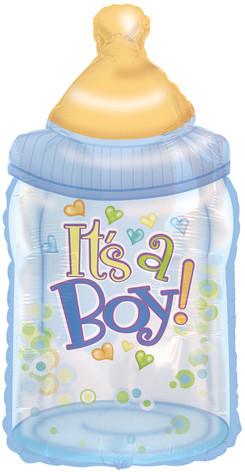 """33"""" It's A Boy Bottle"""
