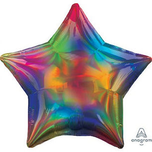 "18"" Iridescent Rainbow Star"