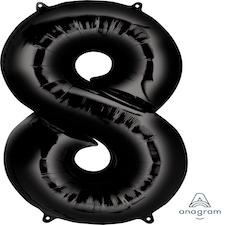 """34"""" Black 8"""