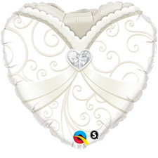 """18"""" Heart Wedding Dress"""