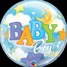 "22"" Bubble - Boy Moon & Stars"