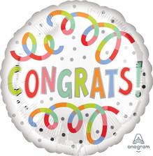 "18"" Congrats Swirls"