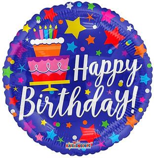 """18"""" Birthday Cake & Stars"""