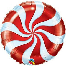 "18"" Red Candy Swirl"