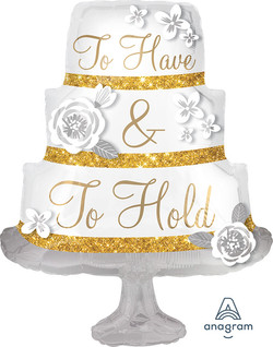 """28"""" Cake To Have & To Hold"""