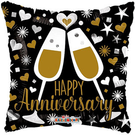 "18"" Happy Anniversary Glasses"