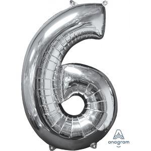 """34"""" Silver 6"""